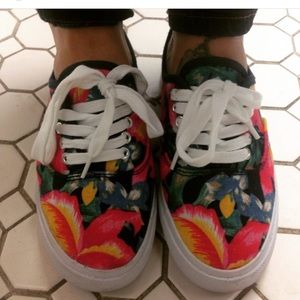 F21 floral sneakers